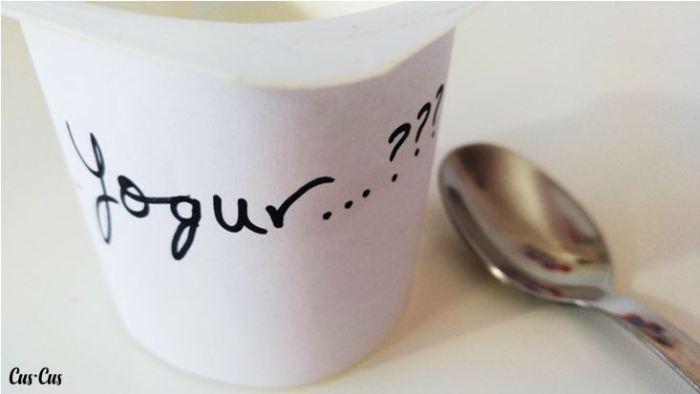 Yogur proporción